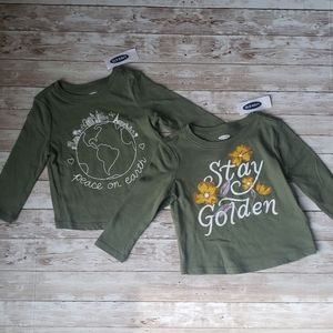 2 Old Navy Baby Girls Long Sleeve Shirts